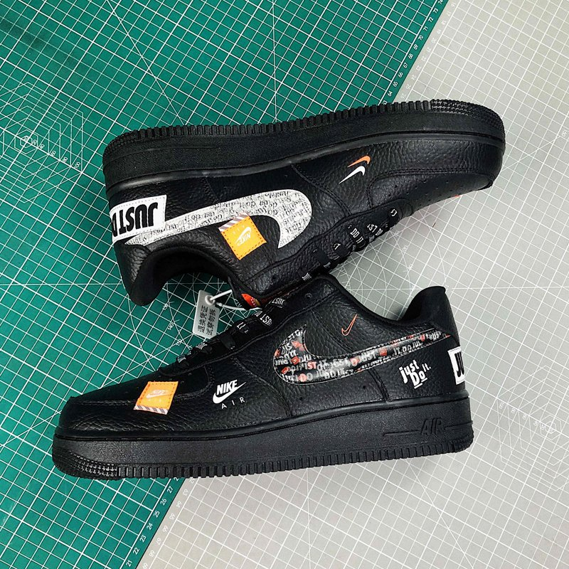 Black Nike Air Force 1 Low JDI Just Do It New Sale