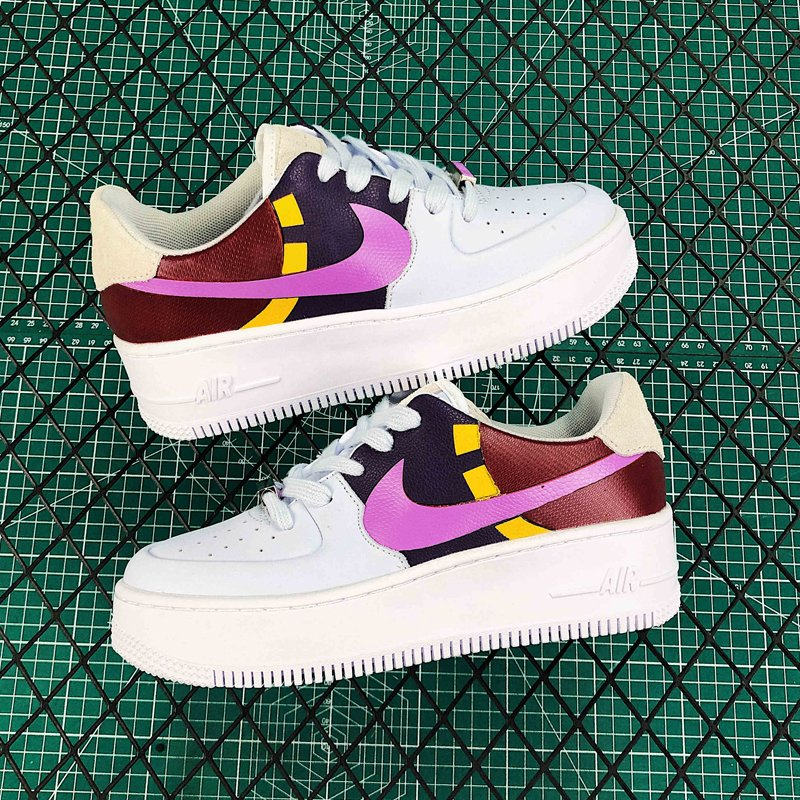 Nike Wmns Air Force 1 Sage Low LX Grey Dark Orchid BV1976-003 New Sale