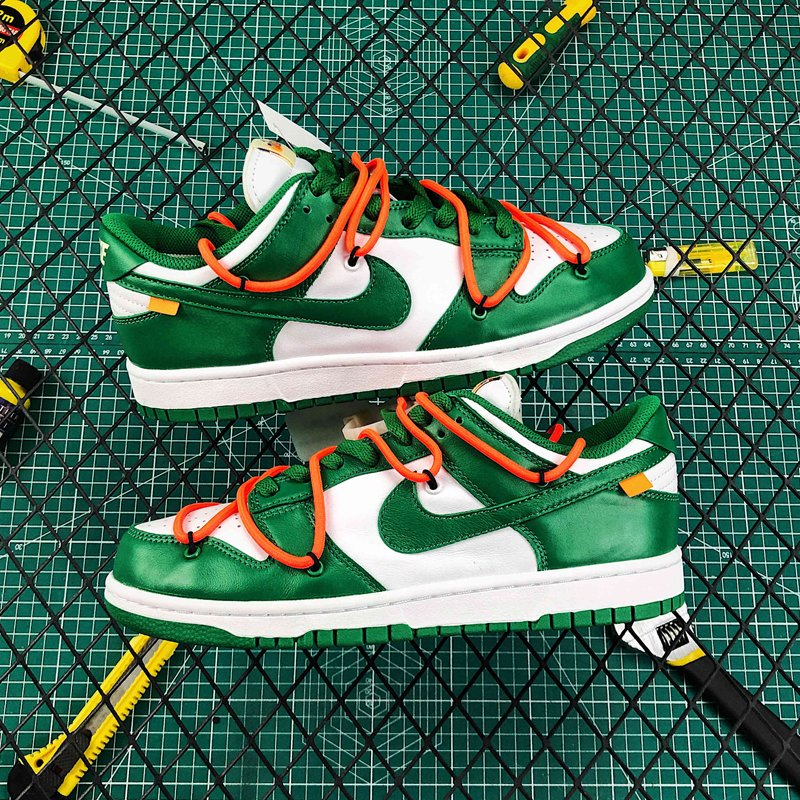 Off-White x Nike Dunk Low Pine Green CT0856-100 New Sale