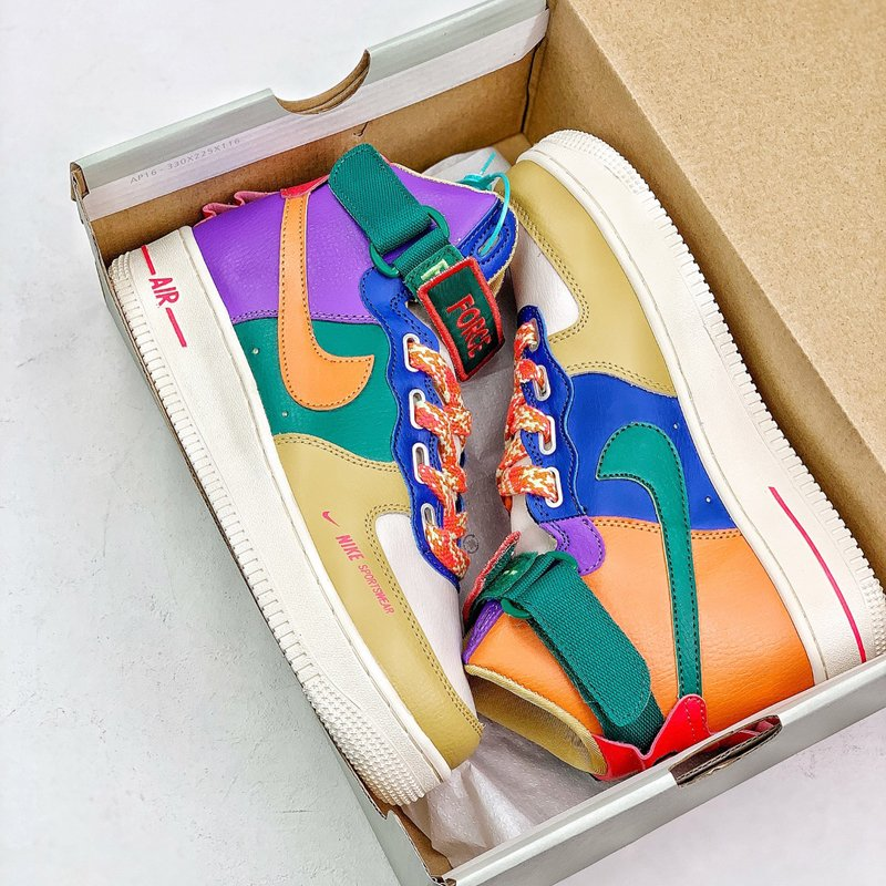 Nike Air Force 1 High Utility Force is Female Multi-Color New Sale