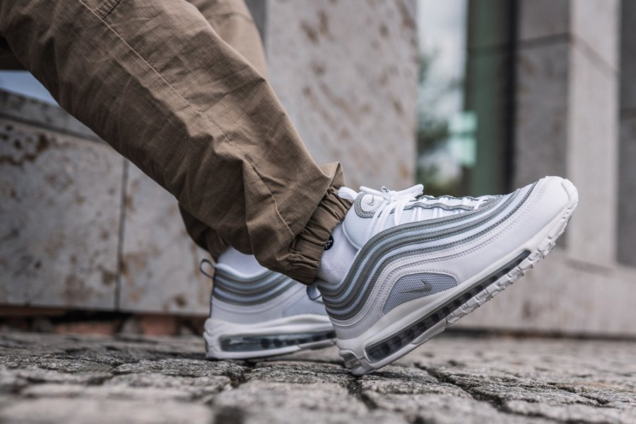 Nike Air Max 97 White Reflect Silver-Wolf Grey On Feet