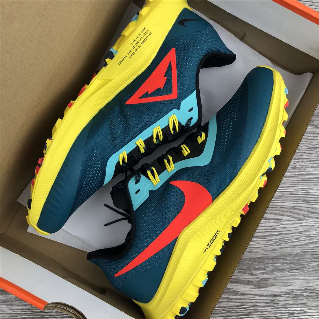Nike Air Zoom Pegasus 36 Trail Teal Yellow Red AR5677-301 New Sale