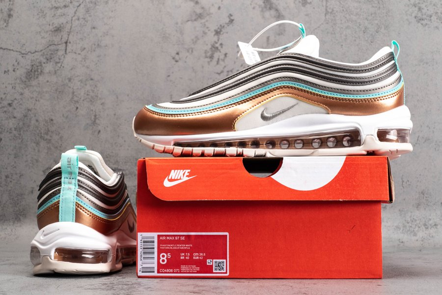 Men and Womens Nike Air Max 97 SE Metallic Pewter CQ4806-071 New Sale