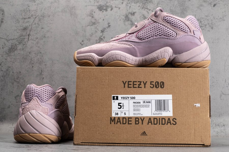 Pink adidas Yeezy 500 Soft Vision FW2656 New Sale