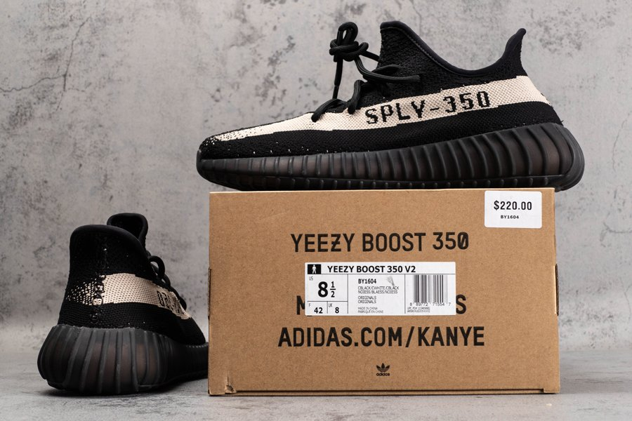 BY1604 adidas Yeezy Boost 350 V2 Oreo Core Black White New Sale