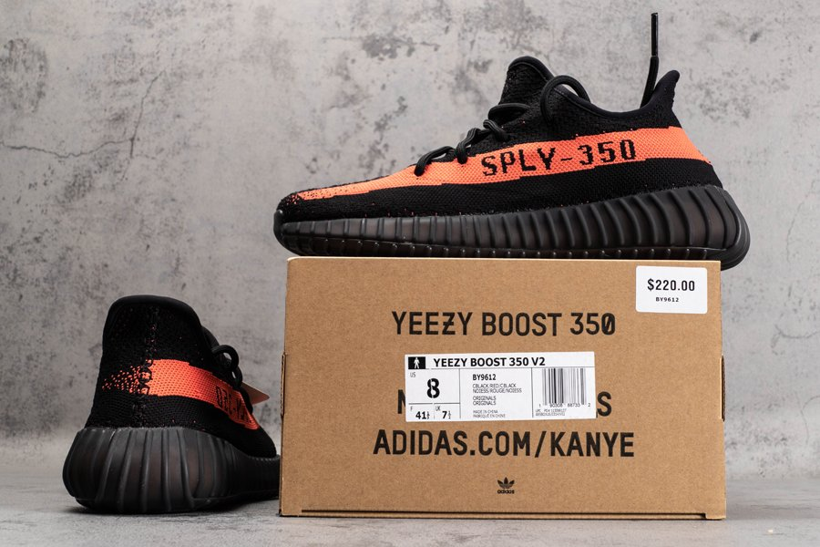 BY9612 adidas Yeezy Boost 350 V2 Black Red To Buy