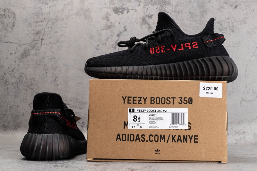 adidas Yeezy Boost 350 V2 Core Black-Solar Red CP9652 New Sale