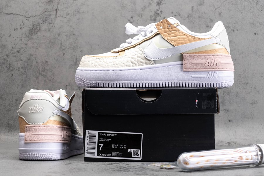 CK3172-002 Nike Air Force 1 Low Shadow Spruce Aura White New Sale