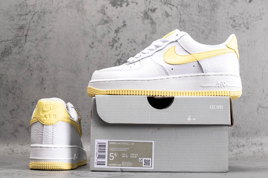 Nike Air Force 1 Low 07 Bicycle Yellow AH0287-106 New Sale