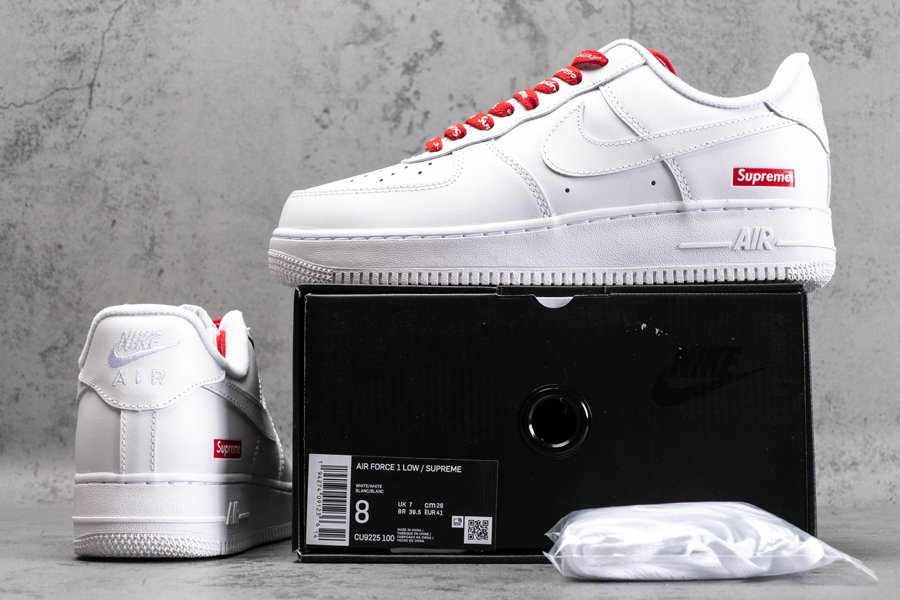 CU9225-100 Nike Air Force 1 Low Supreme White New Sale