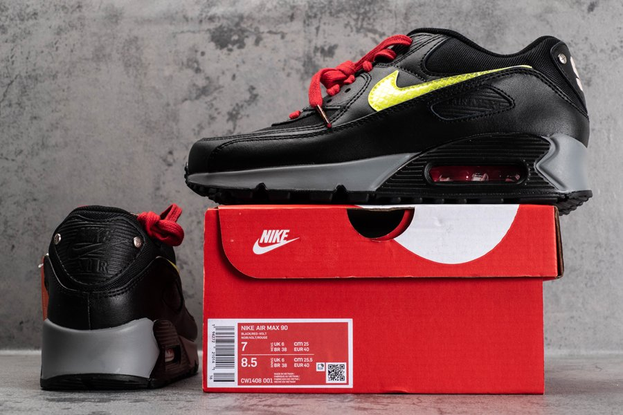 CW1408-001 Nike Air Max 90 City Pack NYC 2020 Black-Red Speed Yellow