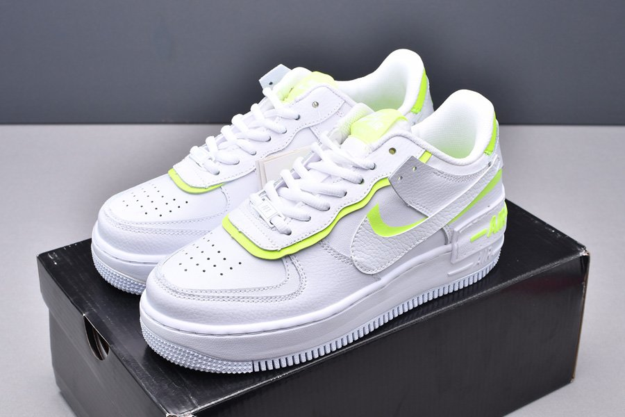 CI0919-104 Nike WMNS Air Force 1 Low Shadow White Volt New Sale