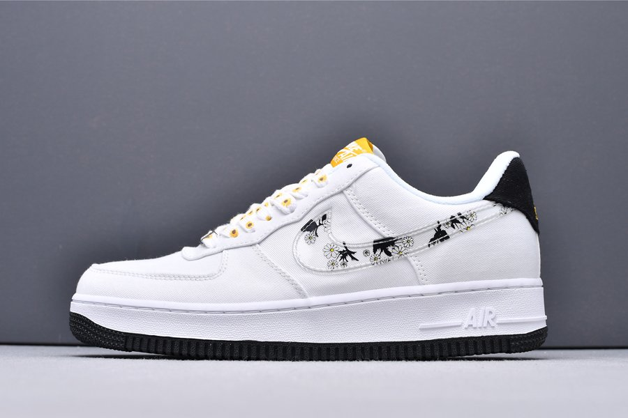 CW5571-100 Nike Air Force 1 Low Daisy White Black New Sale