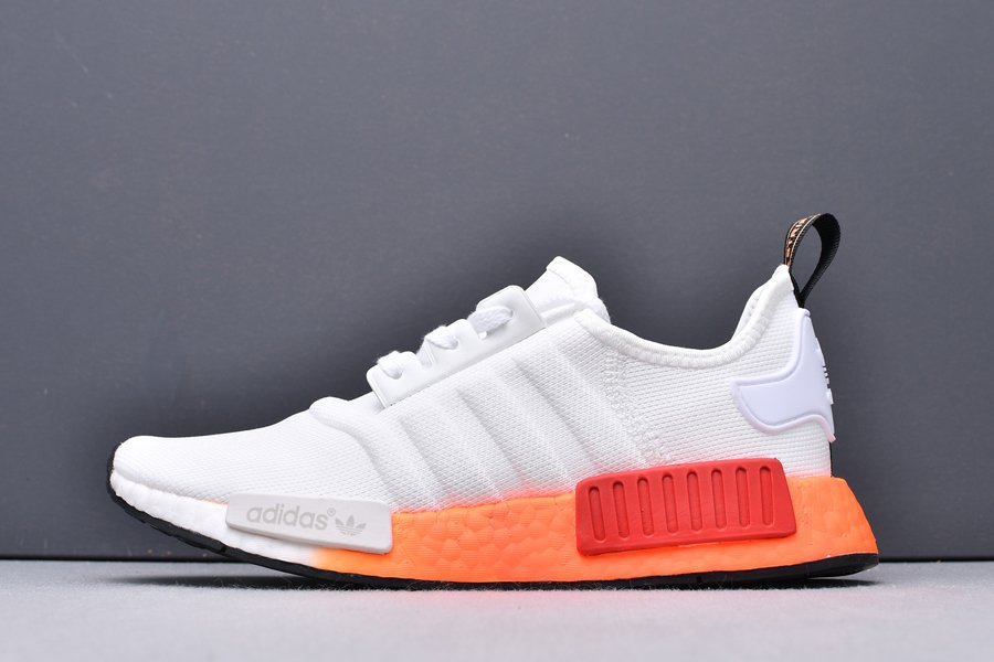 EF5860 adidas NMD R1 Cloud White Solar Red New Sale