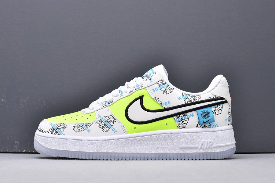 CK7213-001 Japan Air Force 1 Low Worldwide White Yellow New Sale