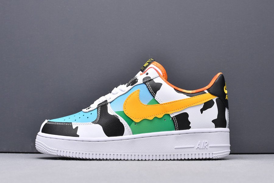 Nike Air Force 1 With Ice Cream and Cow Mudguard New Sale