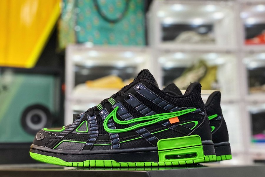 Off-White x Nike Air Rubber Dunk Black Green Strike CU6015-001 Outlet
