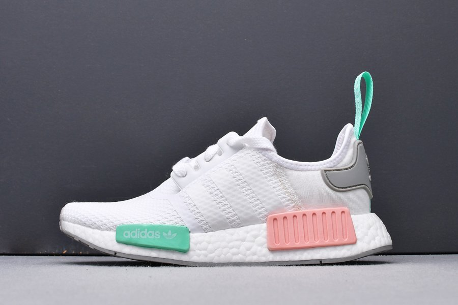 FX7197 adidas NMD R1 WMNS Cloud White Grey Two-Clear Mint New Sale