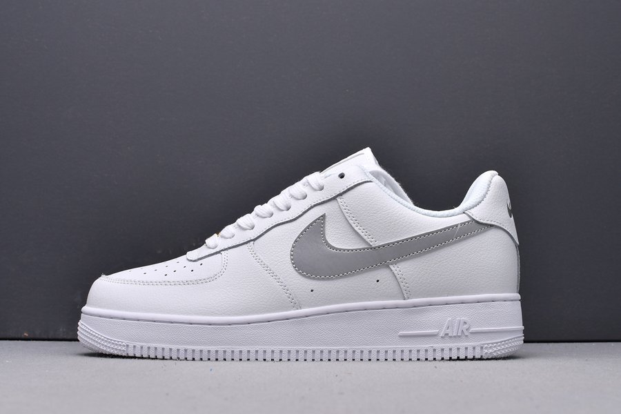 Nike Air Force 1 Low 3M Static Reflective White Wolf Grey New Sale