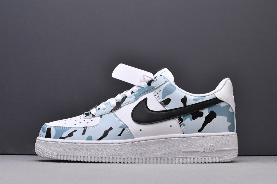 Nike Air Force 1 Low White Light Blue Camo New Sale