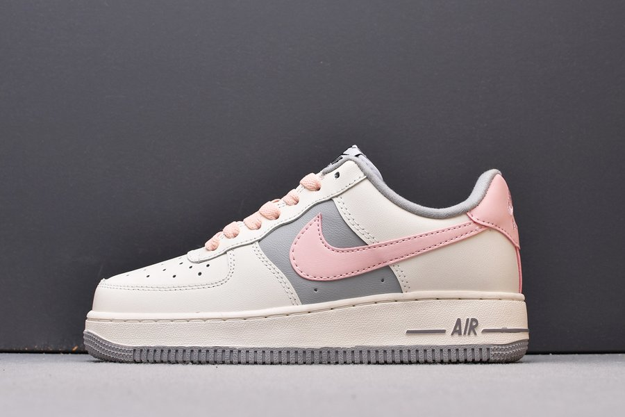 Womens Nike Air Force 1 Low Sail Grey Pink Online Sale