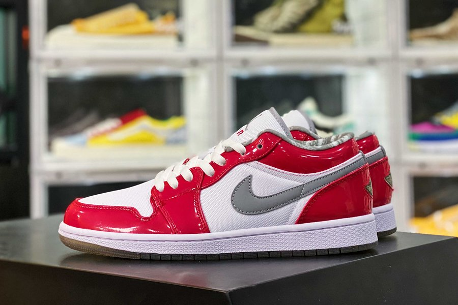 309192-171 Air Jordan 1 Low South Side White Red Stealth New Sale