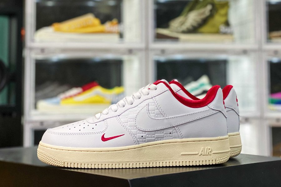 CZ7926-100 Kith x Nike Air Force 1 Low Japan White Red New Sale