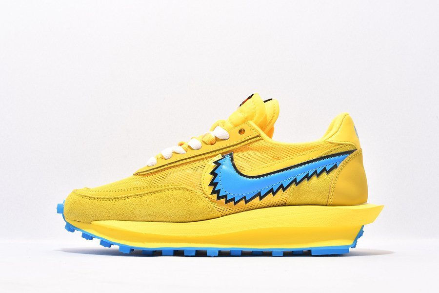 Grateful Dead x Sacai x Nike LDWaffle Double-Stacked Sole Yellow