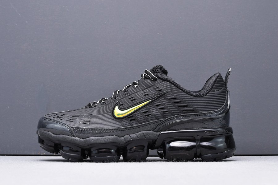Mens and Womens Nike Air VaporMax 360 Trainers In Black and Gold