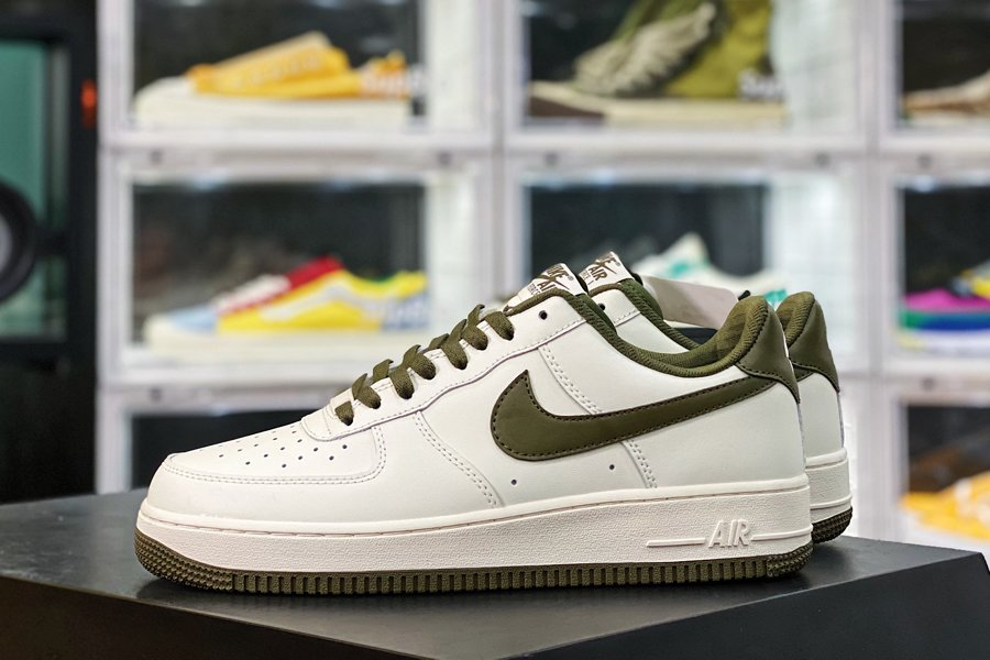 Nike Air Force 1 Low White Neutral Olive New Sale