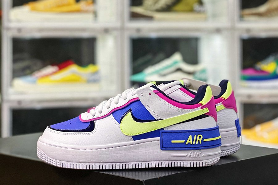 Nike WMNS Air Force 1 Shadow Sapphire Barely Volt