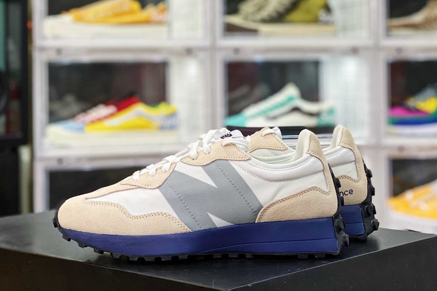 MS327CPC New Balance 327 Lifestyle Shoes White Navy