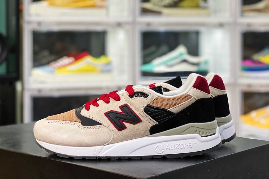 New Balance M998BCD Beige Brown Black Red New Sale