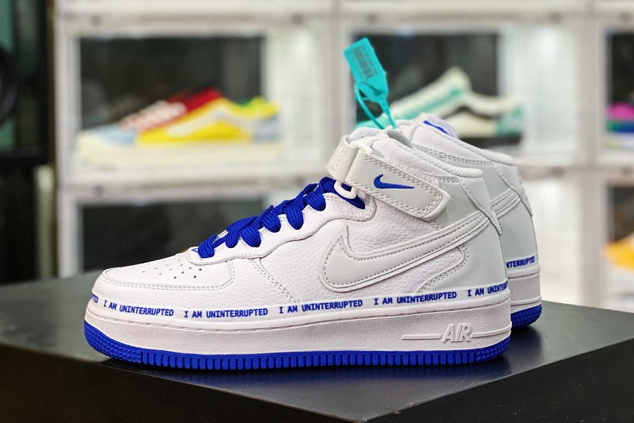 UNINTERRUPTED x Nike Air Force 1 Mid White Racer Blue