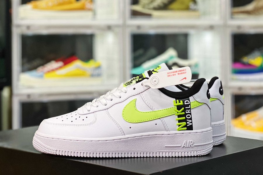 CK6924-101 Nike Air Force 1 Low Worldwide White Volt New Sale