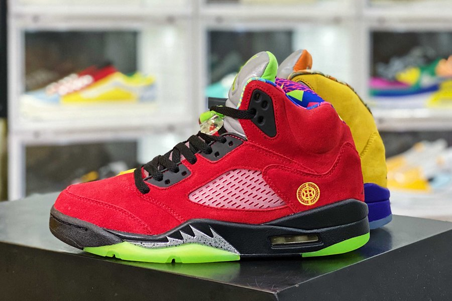 CZ5725-700 Air Jordan 5 What The Mismatched Yellow and Red
