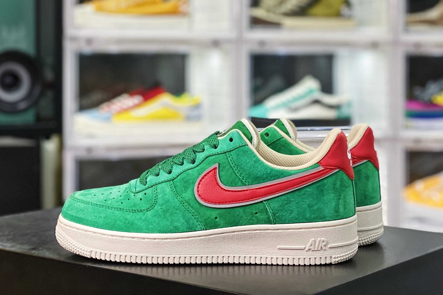 Stranger Things x Nike Air Force 1 Low Green Suede Sale