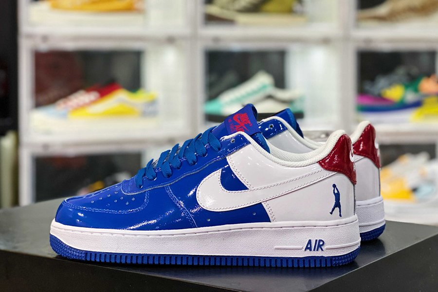 306347-411 Nike Air Force 1 Low Blue Jay White-Varsity Red Sale