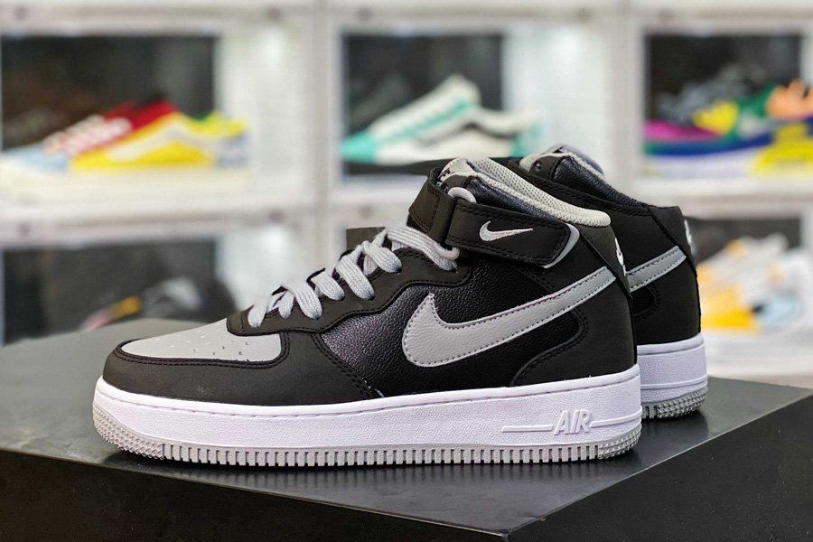 315123-025 Nike Air Force 1 Mid 07 Black Cool Grey New Sale