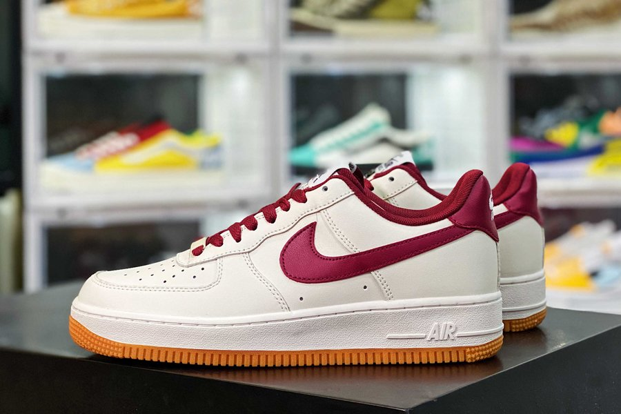 CI0057-101 Nike Air Force 1 Low Cavs White Team Red-Gum Sole