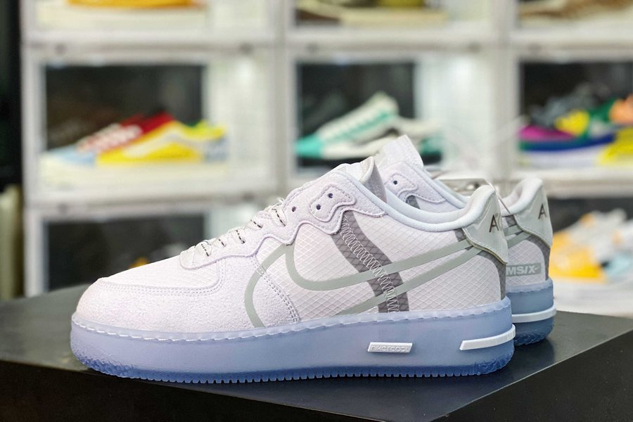 CQ8879-100 Nike Air Force 1 React D MS X QS White Ice Outsole