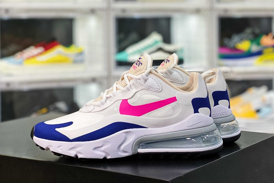 CU7833-101 Nike WMNS Air Max 270 React White Navy Pink Sale