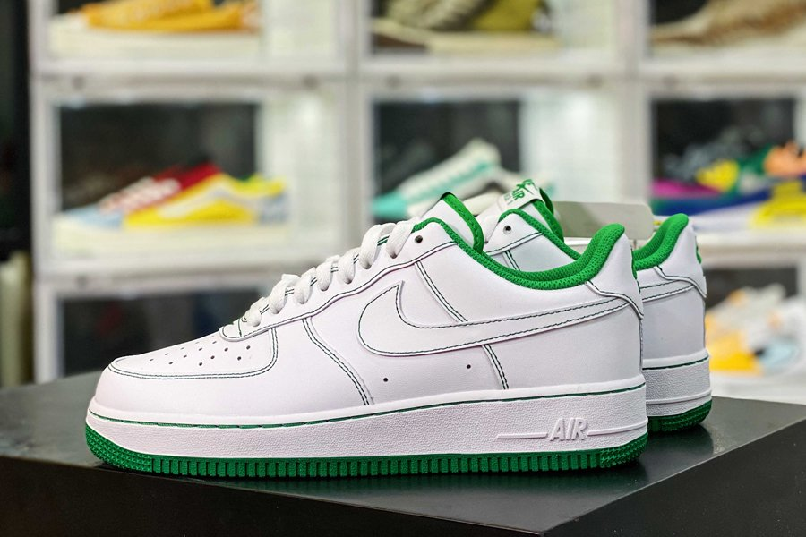 CV1724-103 Nike Air Force 1 Low White-Pine Green New Sale