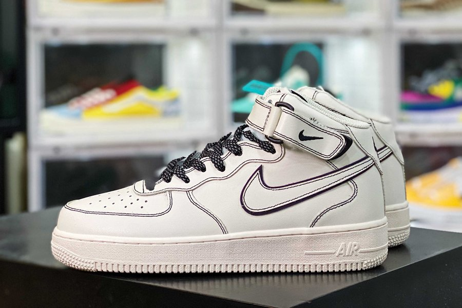 Nike Air Force 1 07 Mid 3M Reflective Beige New Sale