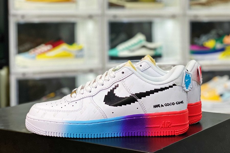 Nike Air Force 1 Low Have a Good Game White Bright Crimson-Black