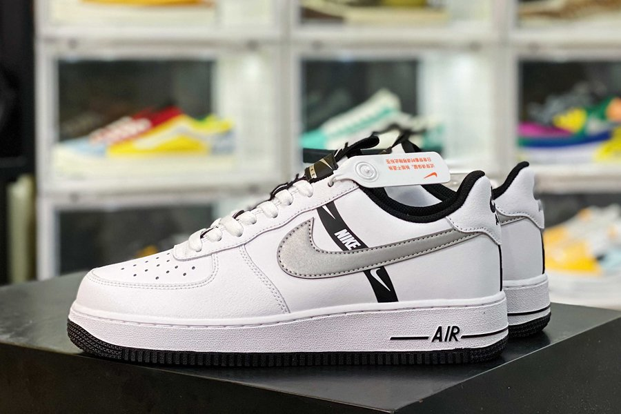 CT4683-100 Nike Air Force 1 Low Black White Grey Reflective 3M Sale