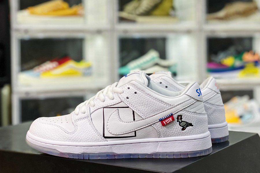 Custom Nike SB Dunk Low Just Vote In White New Sale