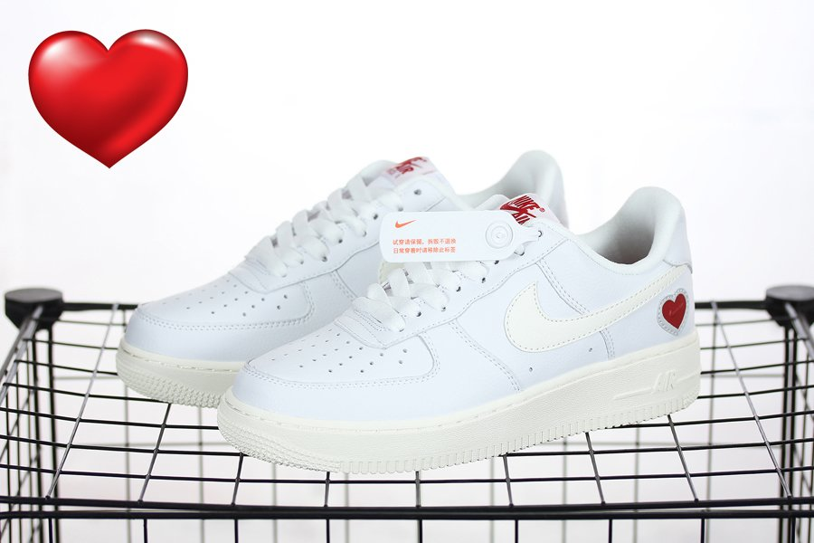 DD7117-100 Nike Air Force 1 Low Valentines Day 2021 New Sale