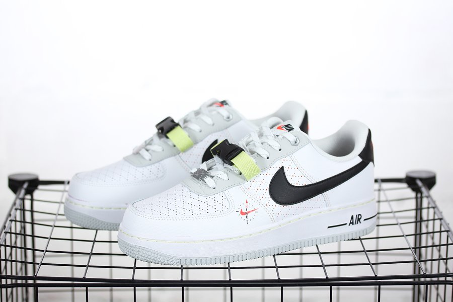 DC2532-100 Nike Air Force 1 Low White Photon Dust-Limelight-Black